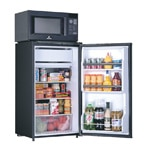 Combination Microwave-Refrigerators